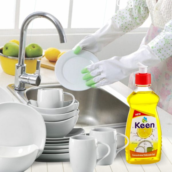 Concentrated Dishwash Gel application - KEEN BY HICHEM